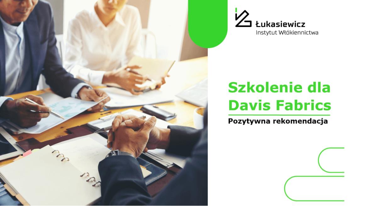 Szkolenie dla firmy Davis Fabrics