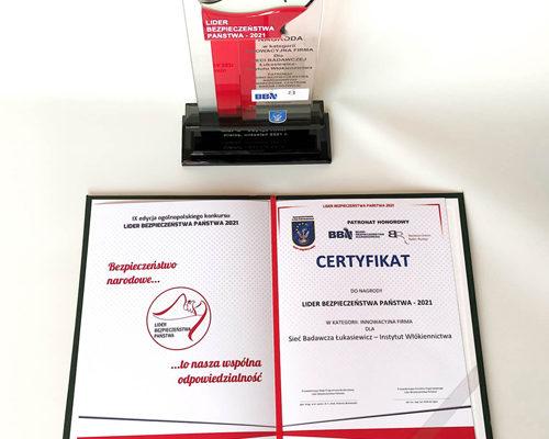 Łukasiewicz – IW nagrodzony w konkursie Lider Bezpieczeństwa Państwa